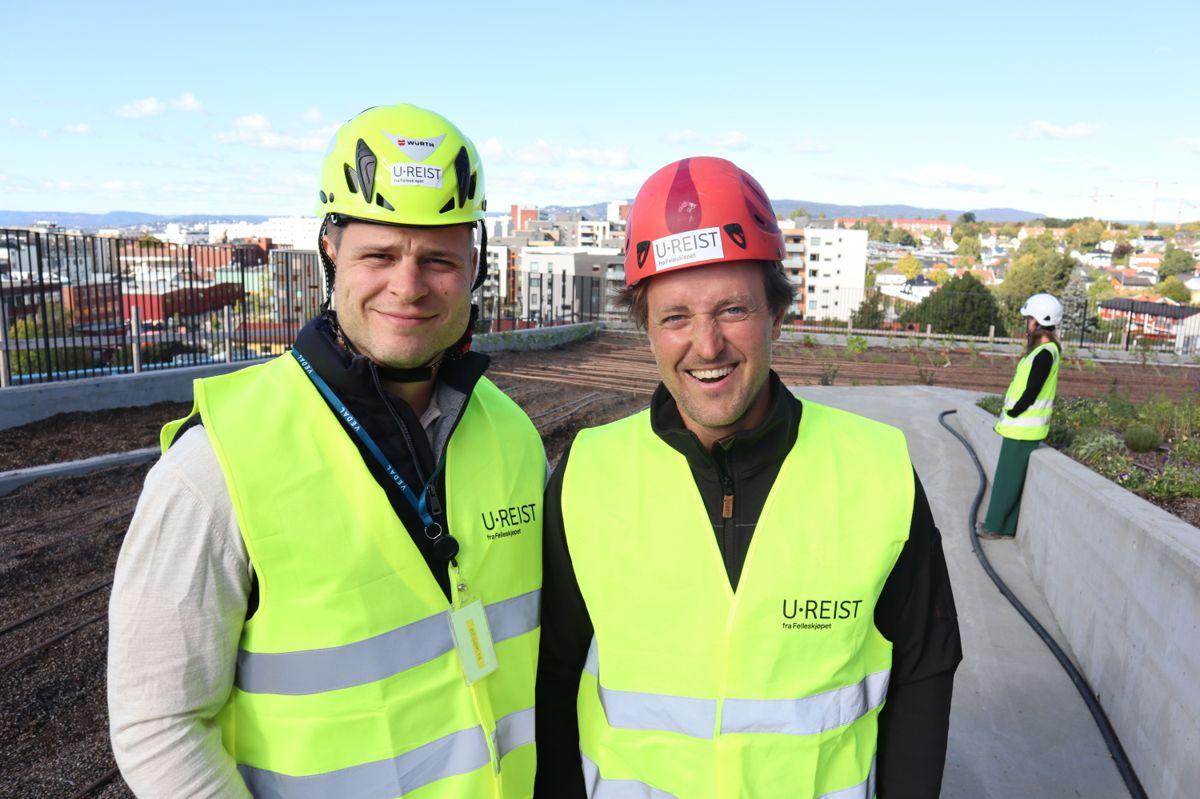 Øyvind Grimeland Koller i Felleskjøpet og Andreas Capjon i U.reist. Foto: Svanhild Blakstad