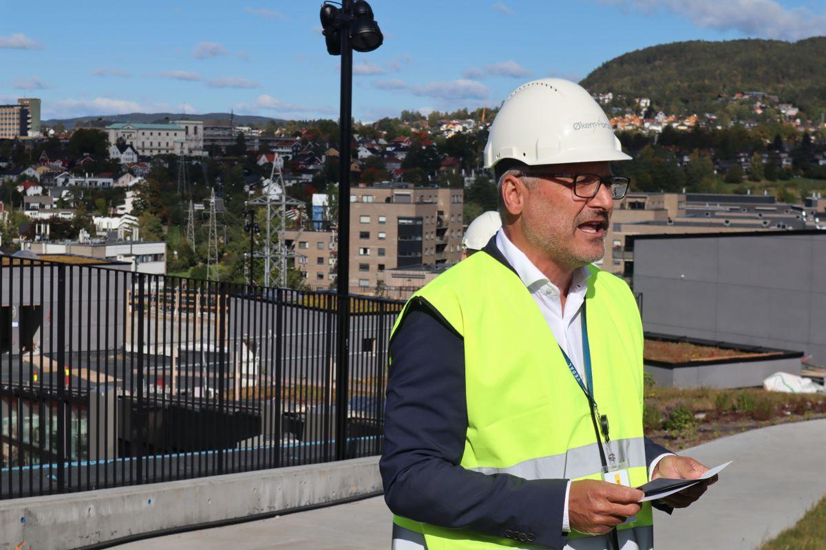 Åmund Lunde, administrerende direktør i Oslo Pensjonsforsikring. Foto: Svanhild Blakstad