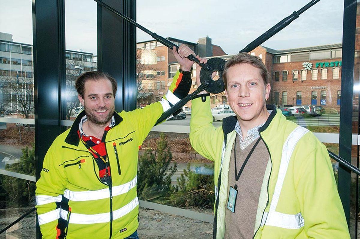 Prosjekteringsleder Kristoffer Hesstvedt og prosjektleder Henrik Standnes i Betonmast Oslo.