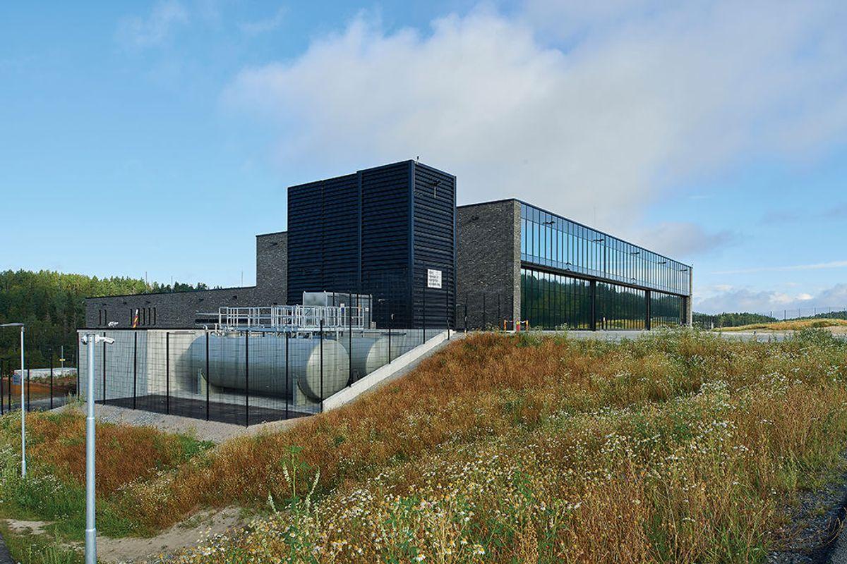 Politiets nasjonale beredskapssenter sett fra sørøst. Foto: Nordic – Office of Architecture, Knut Ramstad