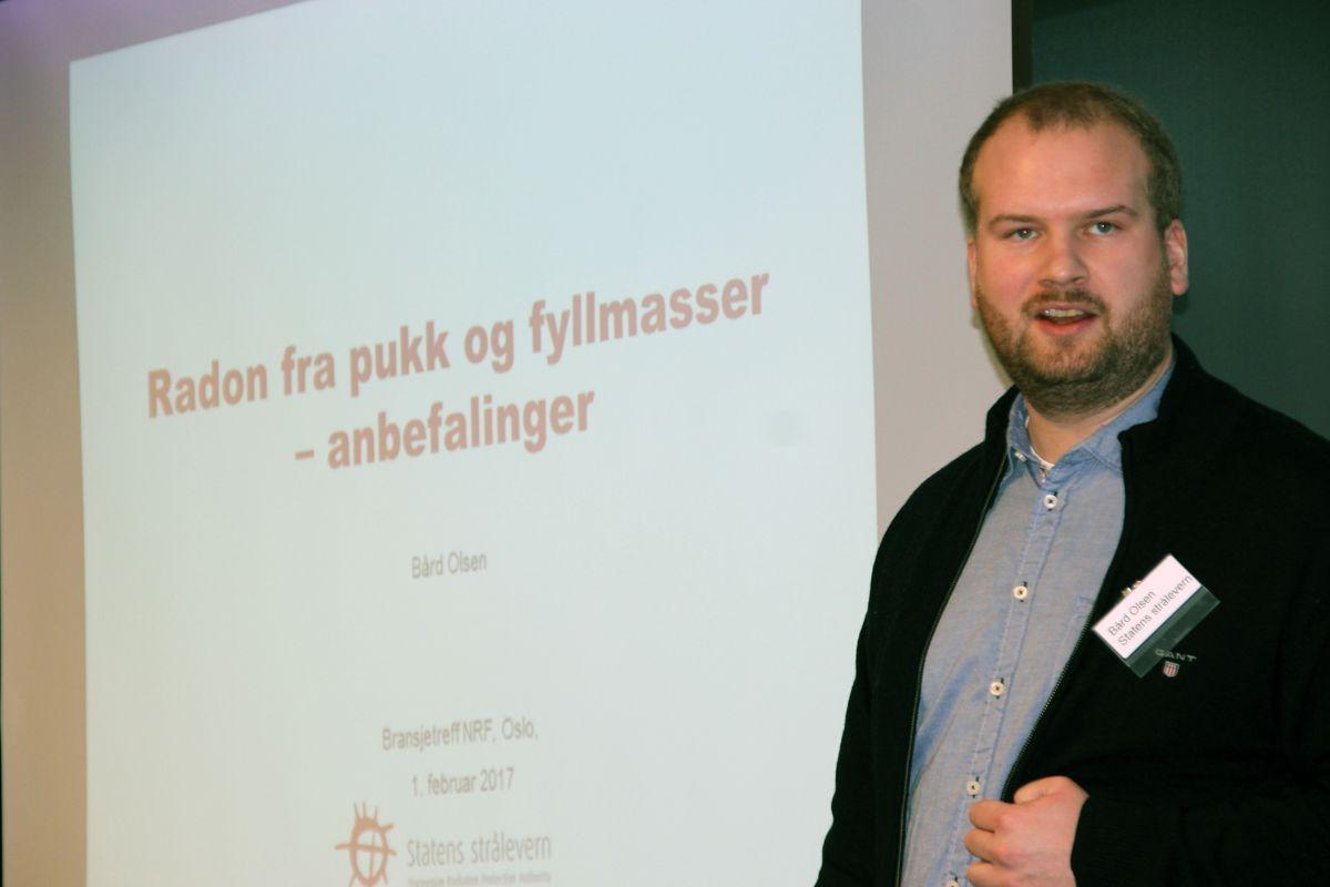 Bård Olsen i Statens strålevern. Foto: Svanhild Blakstad