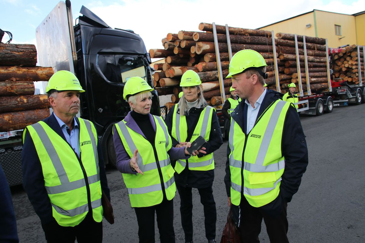 <p>F.v. Haakon Tronrud (BNL), Heidi Finstad (Treindustrien), Kari Sandberg (EBA) og statssekretær John-Ragnar Aarset.</p>