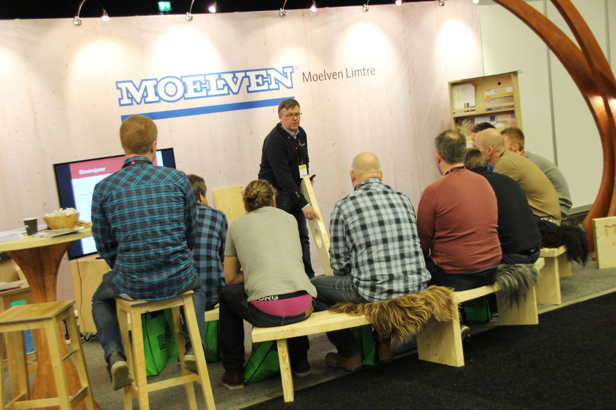 Moelven Limtre på Byggmakker Forum 2017. Foto: Svanhild Blakstad