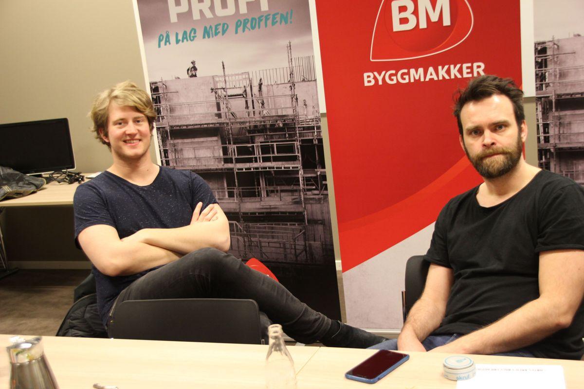 Christian Mikkelsen og Vidar Magnussen sørget for noe av underholdningen på Byggmakker Forum 2017. Foto: Svanhild Blakstad