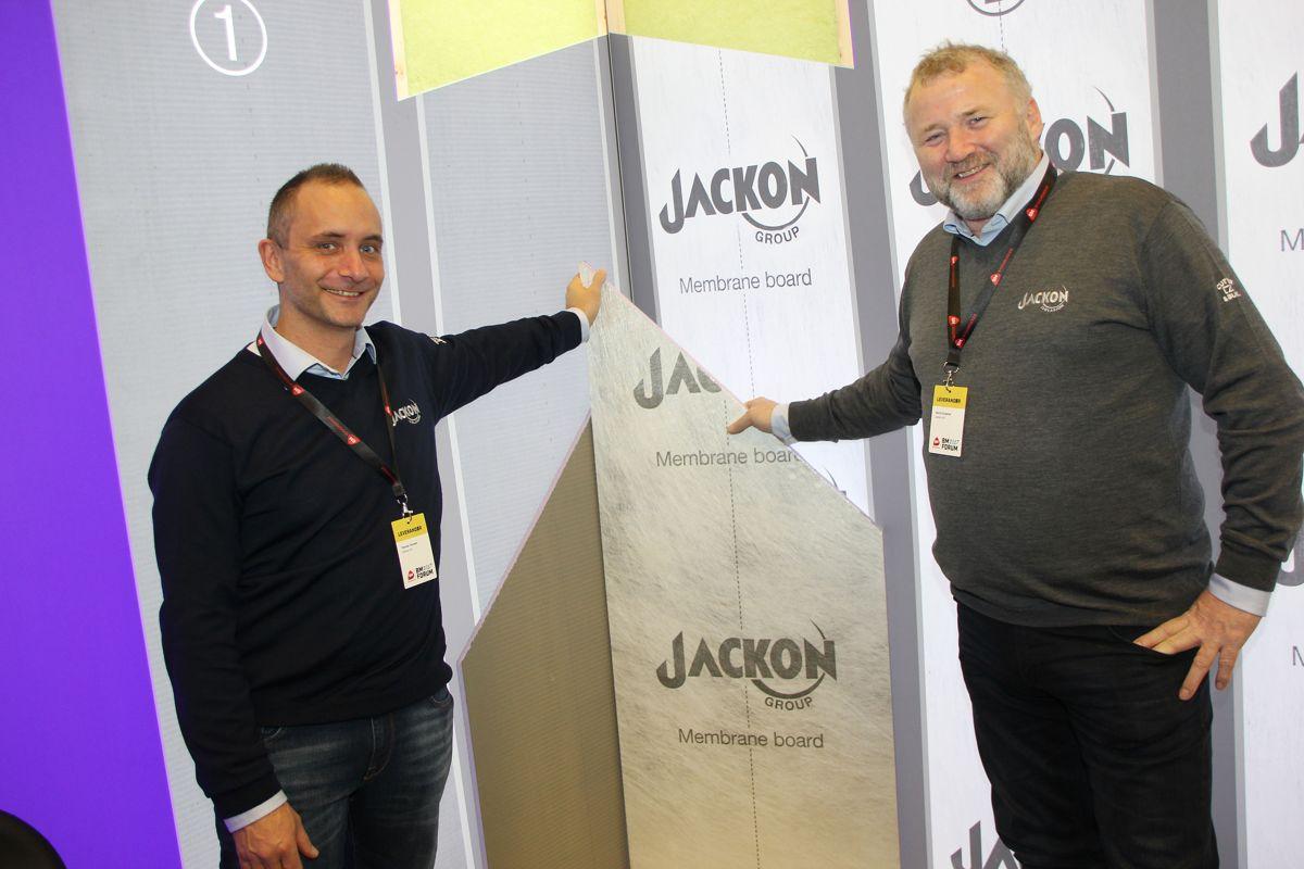 Jackon viste frem nyheter på Byggmakker Forum 2017. Foto: Svanhild Blakstad
