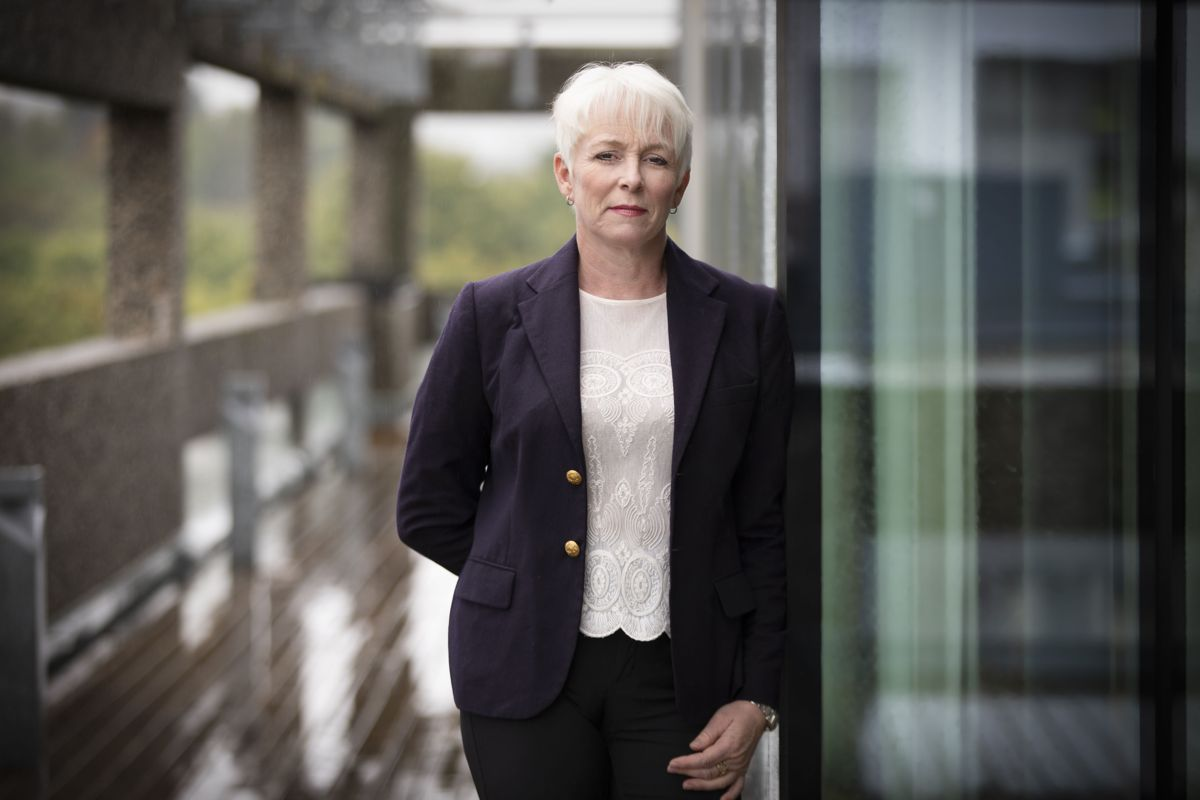Administrerende direktør Heidi Finstad i Treindustrien. Foto: Ingar Sørensen.