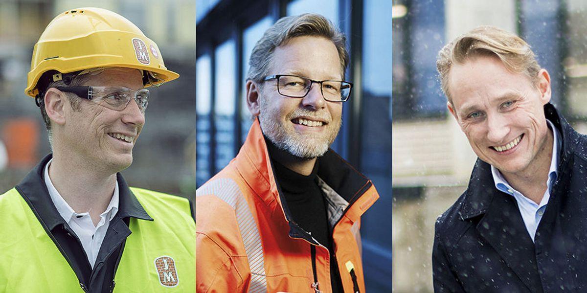 JM, Veidekke og Mestergruppen signerer Grønnvaskingsplakaten