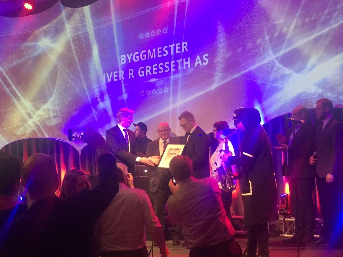Byggmester Iver R Gresseth AS ble kåret til årets Mesterhusbedrift. Foto: Mesterhus
