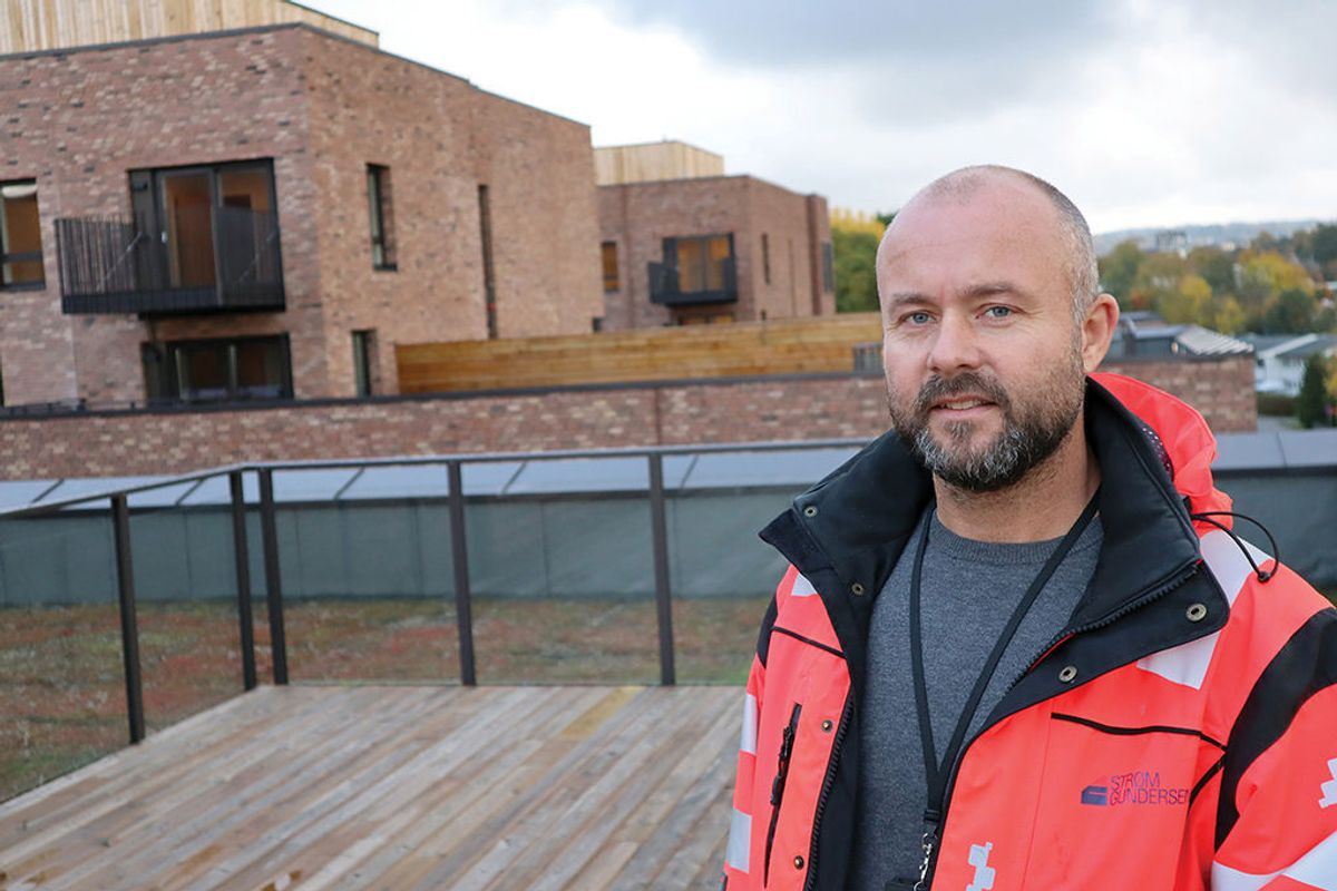 Anleggsleder Kenneth Nyborg i Strøm Gundersen. Foto: Svanhild Blakstad