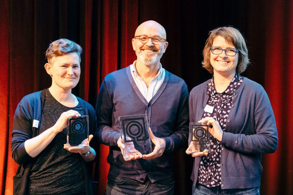 <p>Hanne Pollen, Inge Dahlmann og Ann Kristin Viken Almås. Foto: Johannes Sunde</p>