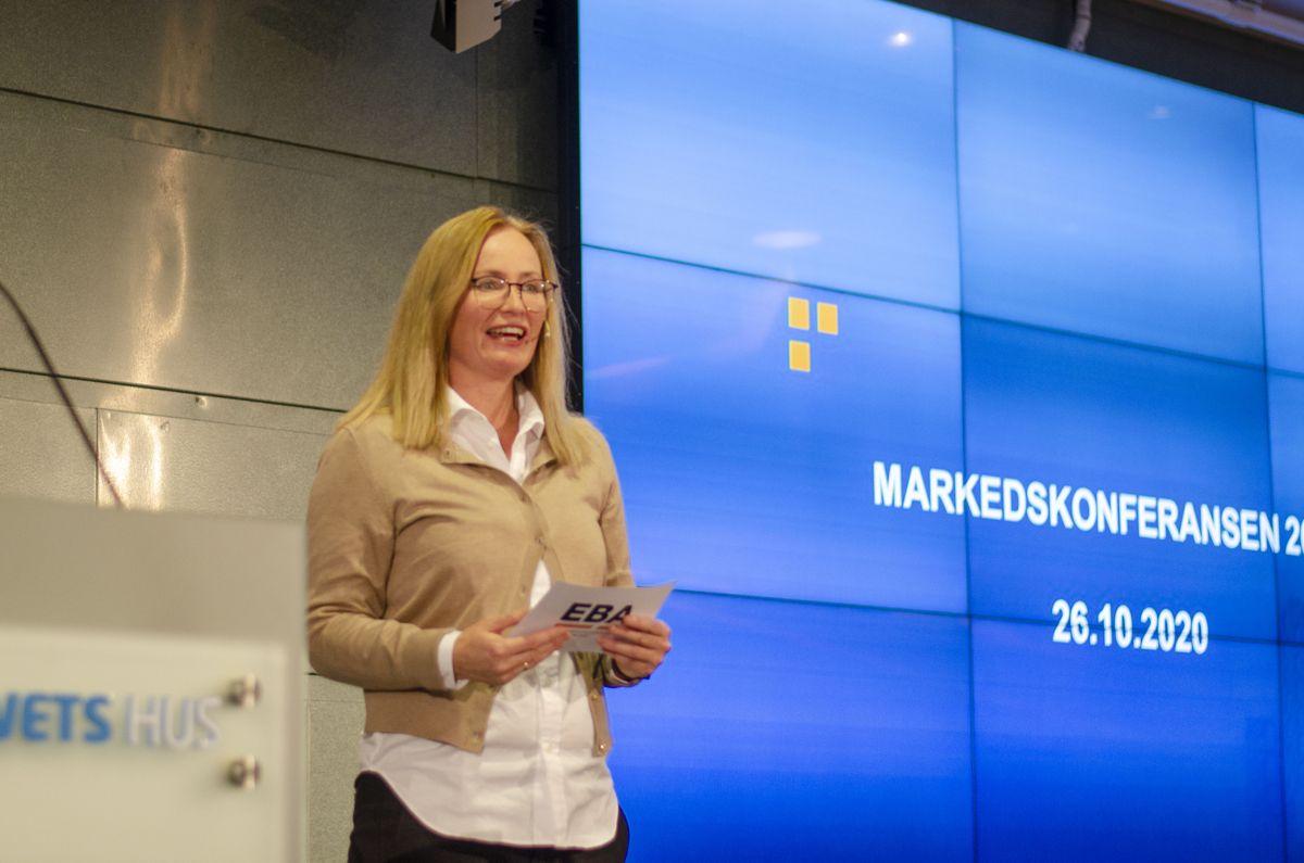 Kommunikasjonssjef Siri Stang i BNL var møteleder under Markedskonferansen 2020.