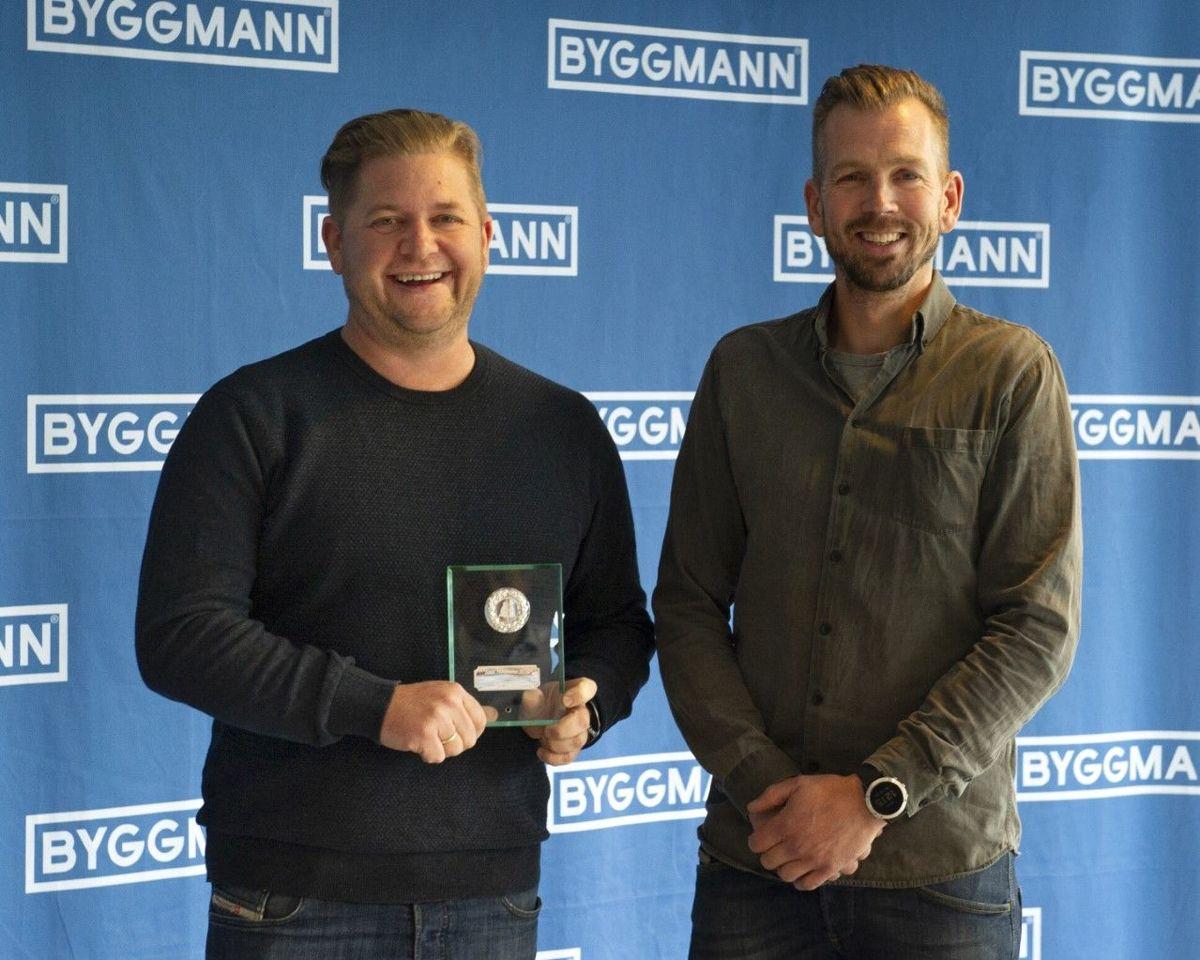 Morten Sten Jacobsen, daglig leder (t.v.) og Dag Frode Jacobsen, styreleder (t.h.) Foto: Byggmann