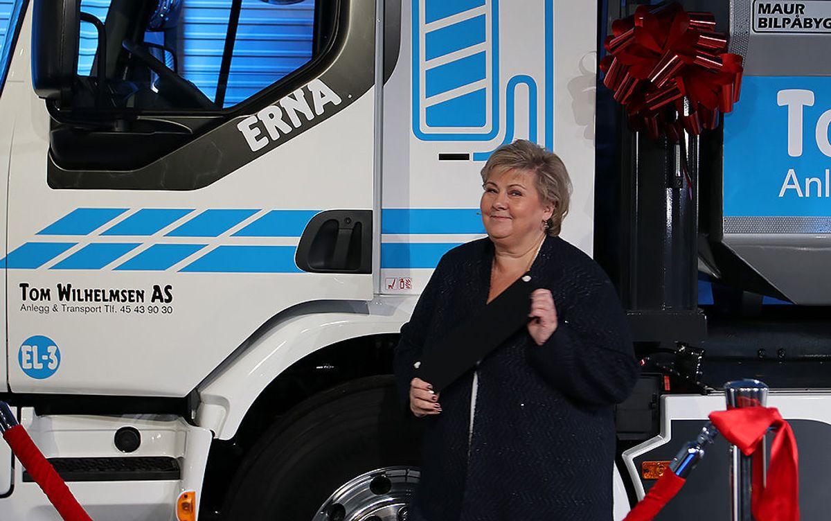 """Erna Solberg avduket """"Erna"""""""