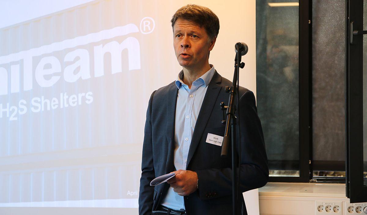 Stein Inge Viset, logistikkdirektør i Würth, setter pris på samarbeidet med Uniteam - nå også som næringskollega i Nittedal.