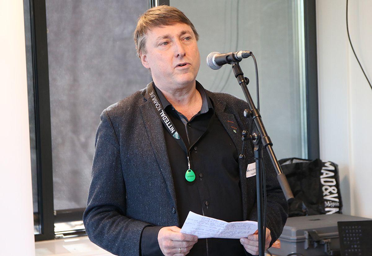 Inge Solli, varaordfører Nittedal kommune, kunne fornøyd ønske Uniteam velkommen til Nittedal og Skytta Næringspark.