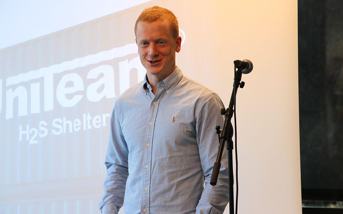 Johannes Thingnes Bø takket for det gode samarbeidet med Uniteam.