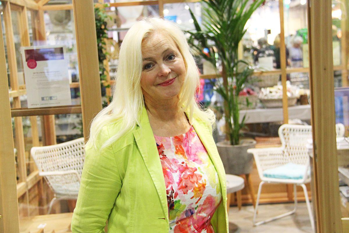 Hageekspert Marit Næss Jørgensen på Hagemessen 2017. Foto: Madeleine Bergheim