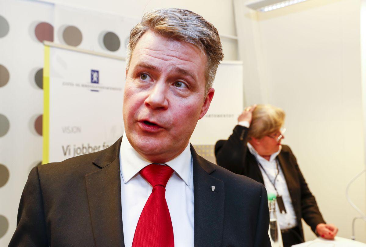 <p>Justisminister Per-Willy Amundsen. Foto: Terje Pedersen / NTB scanpix</p>