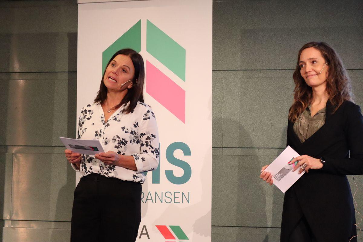 Møteledere Lene Eikefjord og Kristin Wold Jenssen. Foto: Svanhild Blakstad
