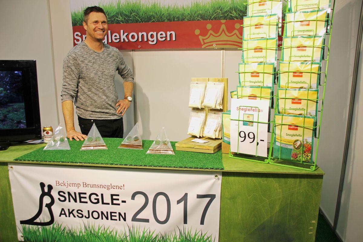 Sneglekongen var også på Hagemessen 2017. Foto: Svanhild Blakstad