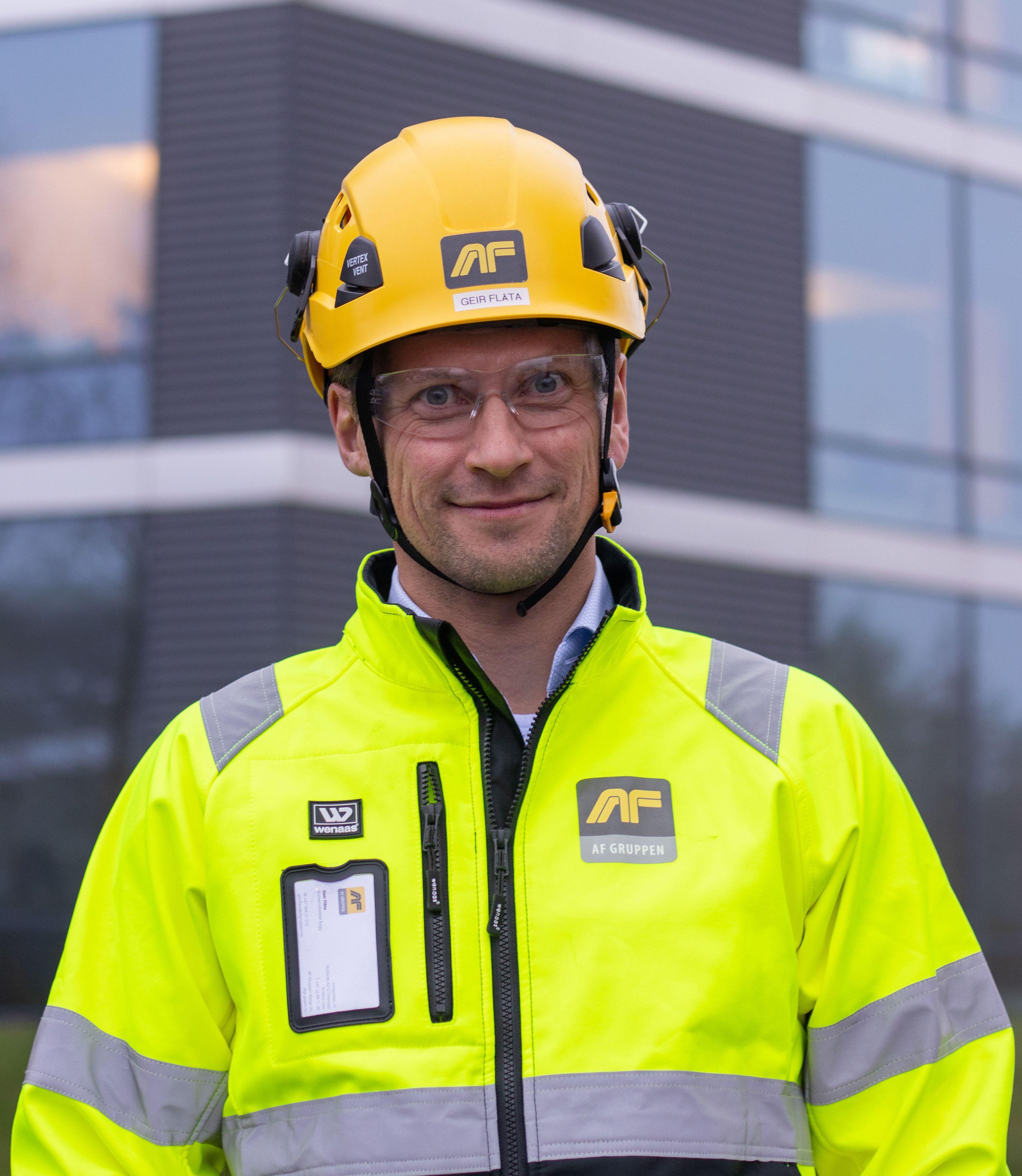 Geir Flåta, konserndirektør i AF Gruppen. Foto: AF Gruppen.