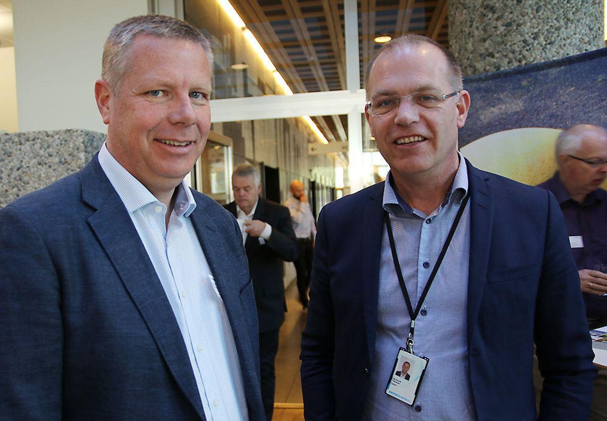 Nestleder Asle Randen og direktør Ole Henrik Ystehede i EBA Oslo avdeling.
