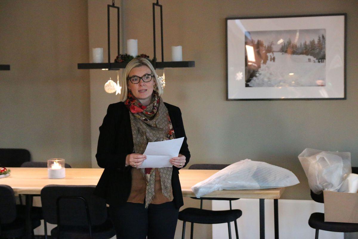 Lillehammer-ordfører Ingunn Trosholmen deltok på åpningen av den ny hotellfløyen.