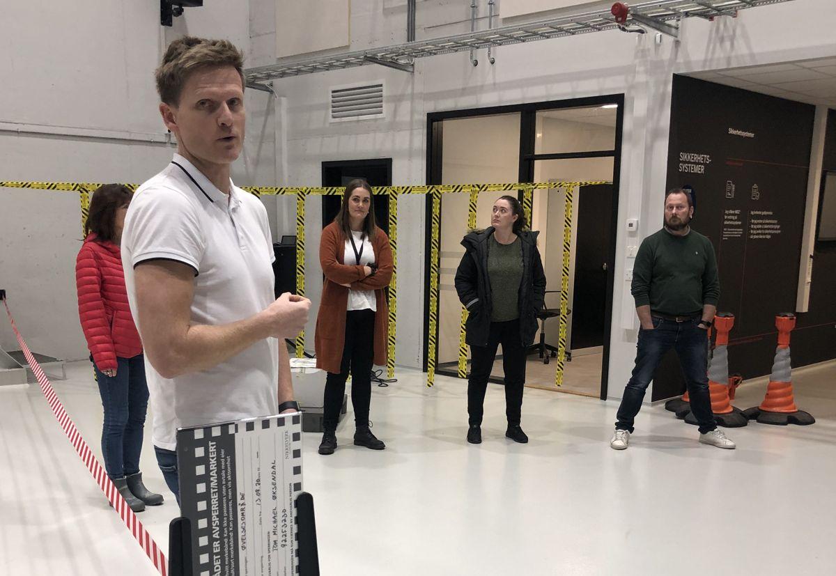 Daglig leder Tom Michael Øksendal i SafeWork sikkerhetssenter.