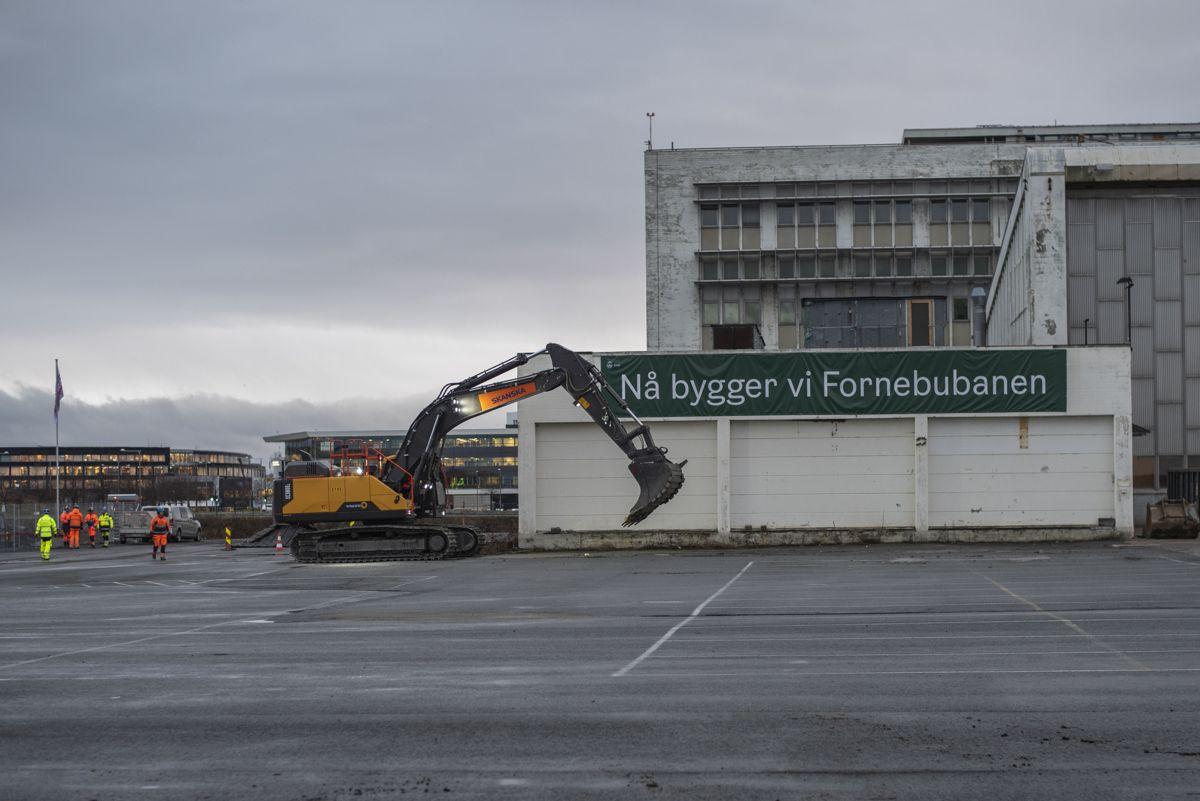 Ny bygges Fornebubanen.