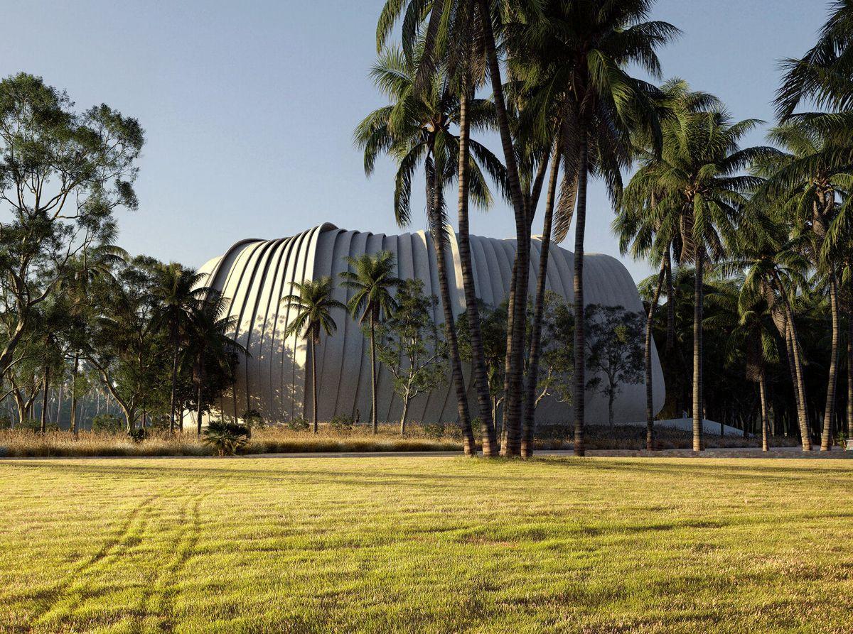 Living Coral Biobank i Australia. Illustrasjon: Contreras Earl Architecture