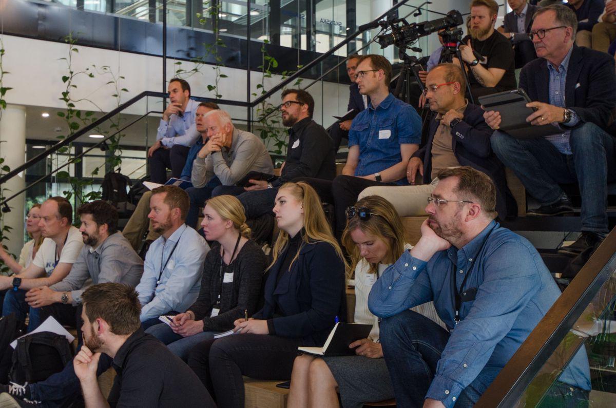 Omtrent 50 gjester fikk med seg presentasjonen av VDC-kurset på Skanska Norges hovedkontor i Oslo.