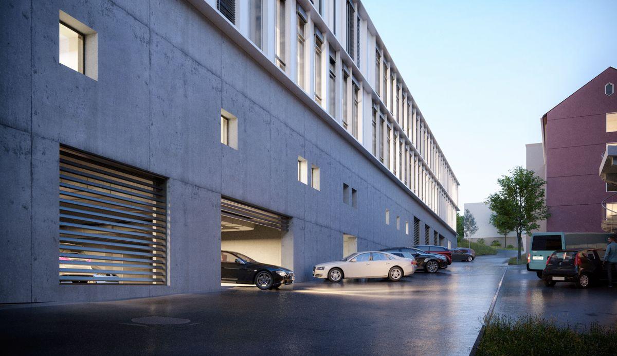 Protonsenteret ved Haukeland sykehus. Illustrasjon: Arkitema