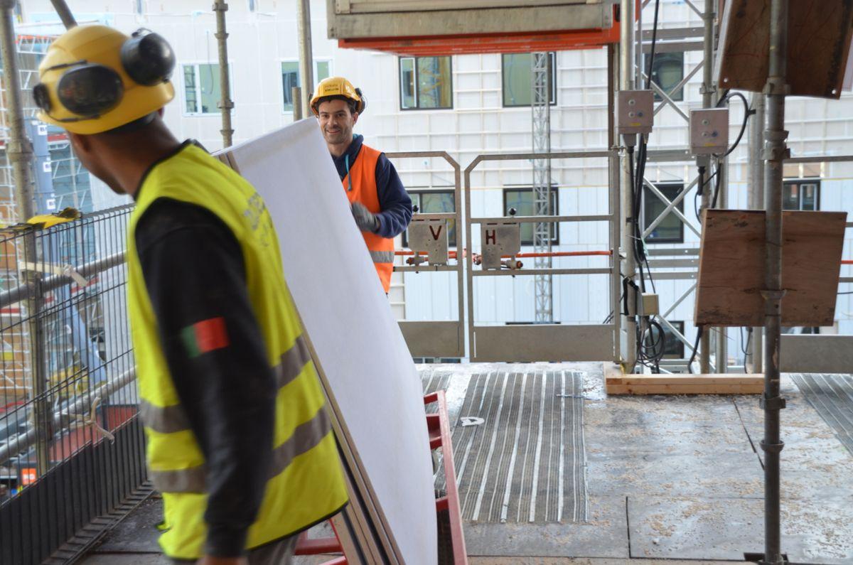 670.000 arbeidstimer vil ha gått med når sykehuset i Østfold står klart i 2016.