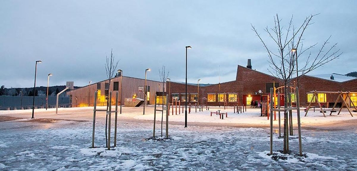 Hurdal skole, kultursenter og idrettshall. Foto: Trond Joelson