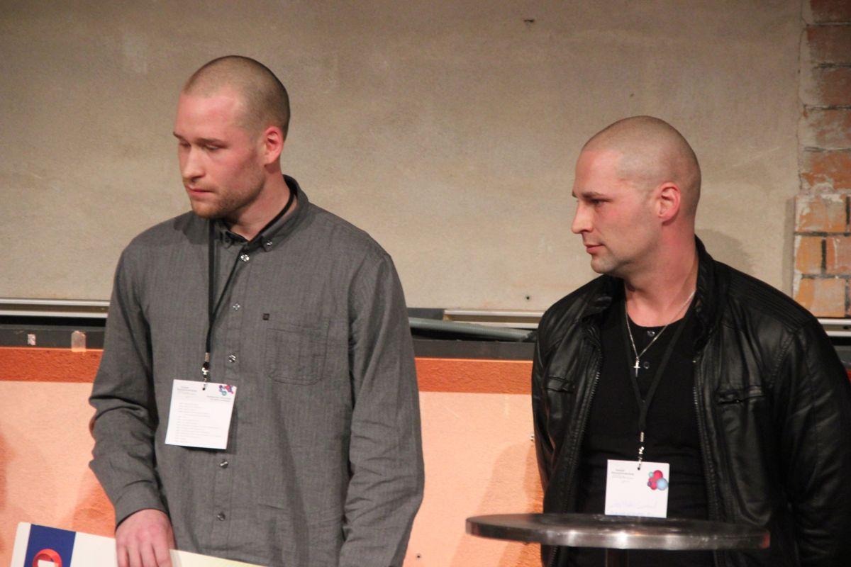 Mathias Grøtvedt og Stig Morten Seierstad i Monsterbedriften. (Foto: Svanhild Blakstad)