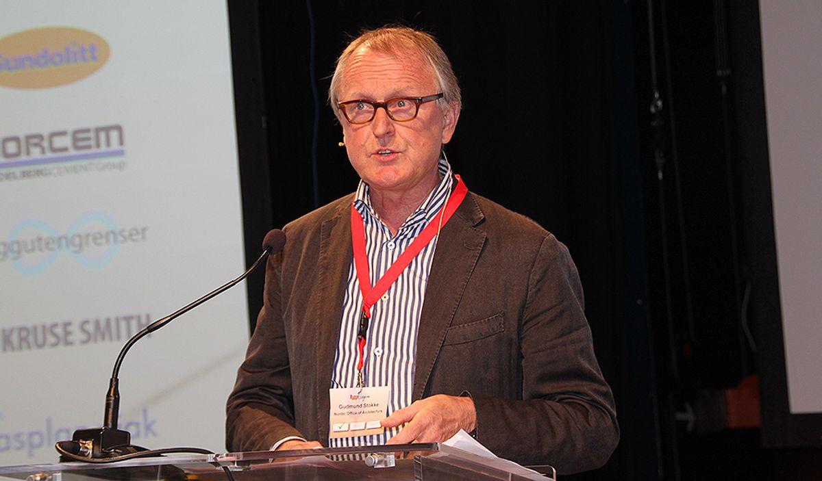 <p>Nordic-sjef Gudmund Stokke talte under Byggedagene. Foto: Arve Brekkhus<br></p><p></p>