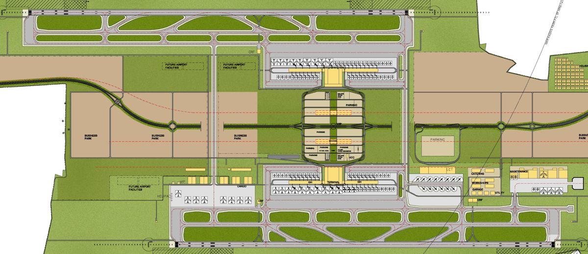 Plantegning fra Rajiv Gandhi Airport. Illustrasjon: Nordic