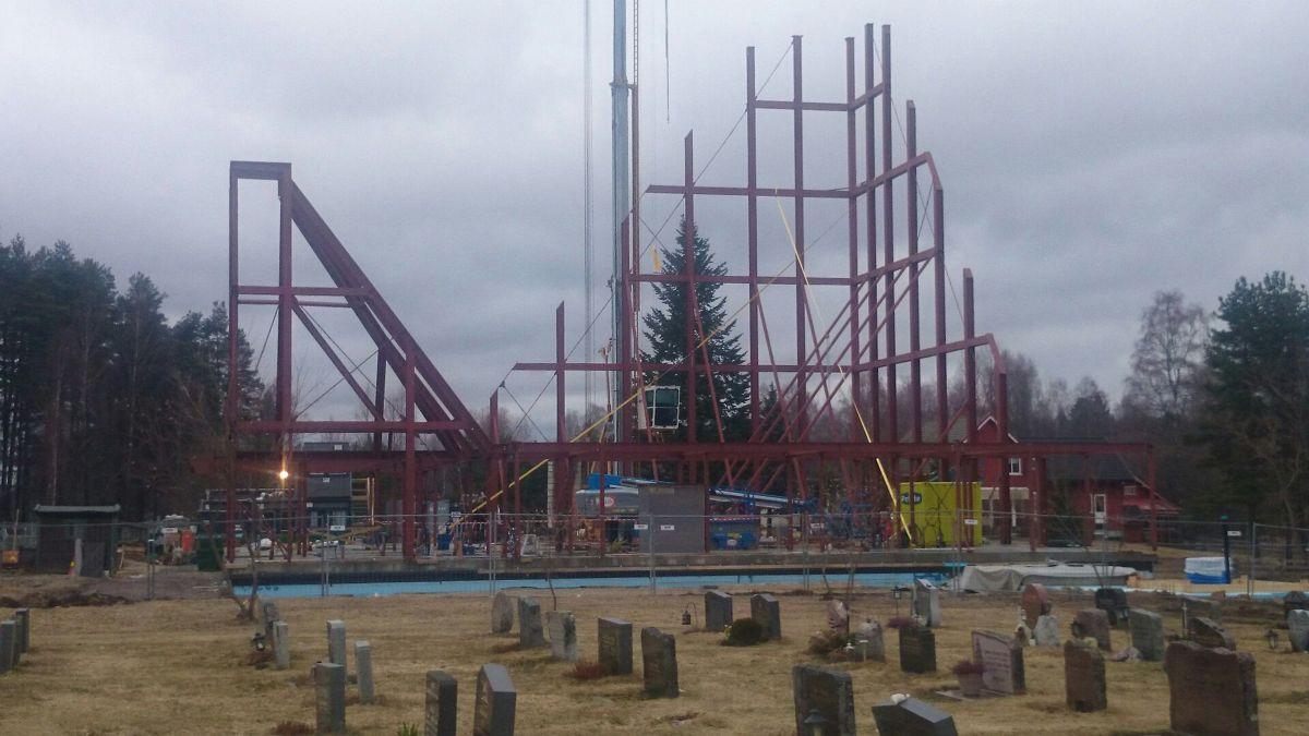 De høyeste konstruksjonene som er montert nå er 24 meter (foto: Armec).