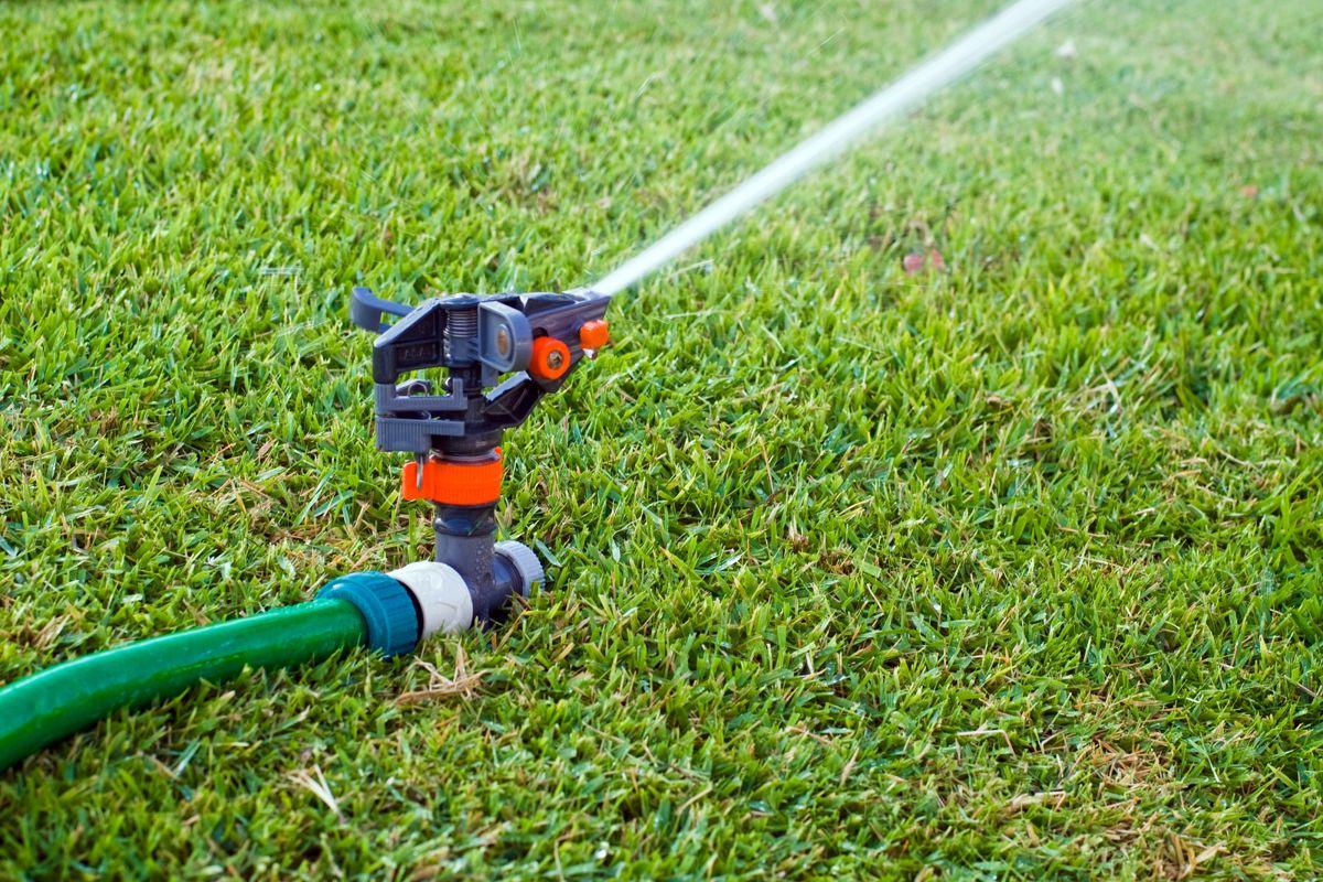 Det er viktig å vanne godt slik at plenen ikke tørker ut.