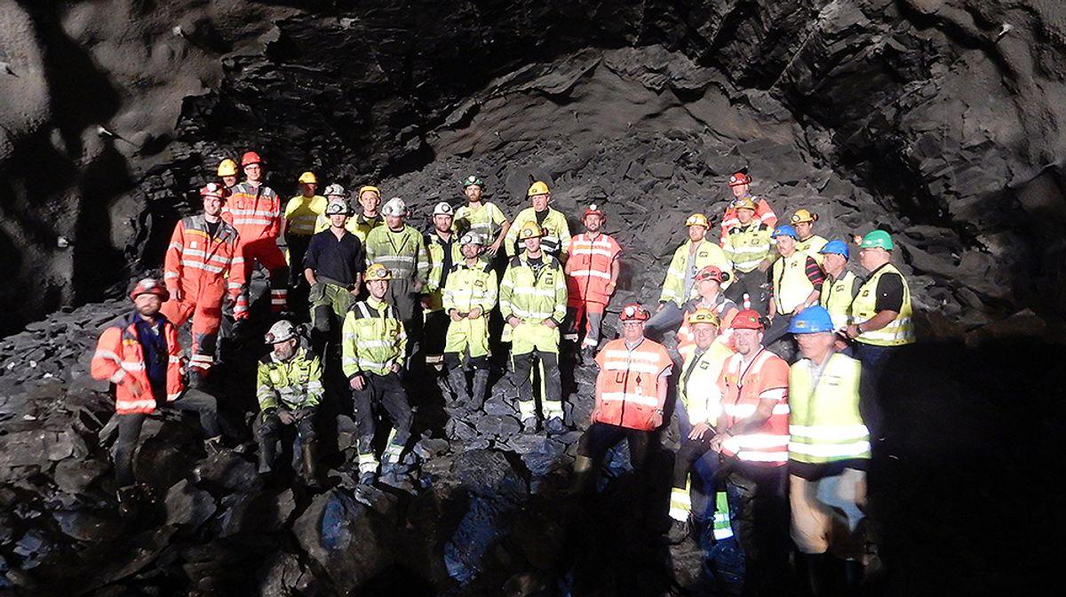 Onsdag var det gjennomslag i Hundorp-tunnelen.