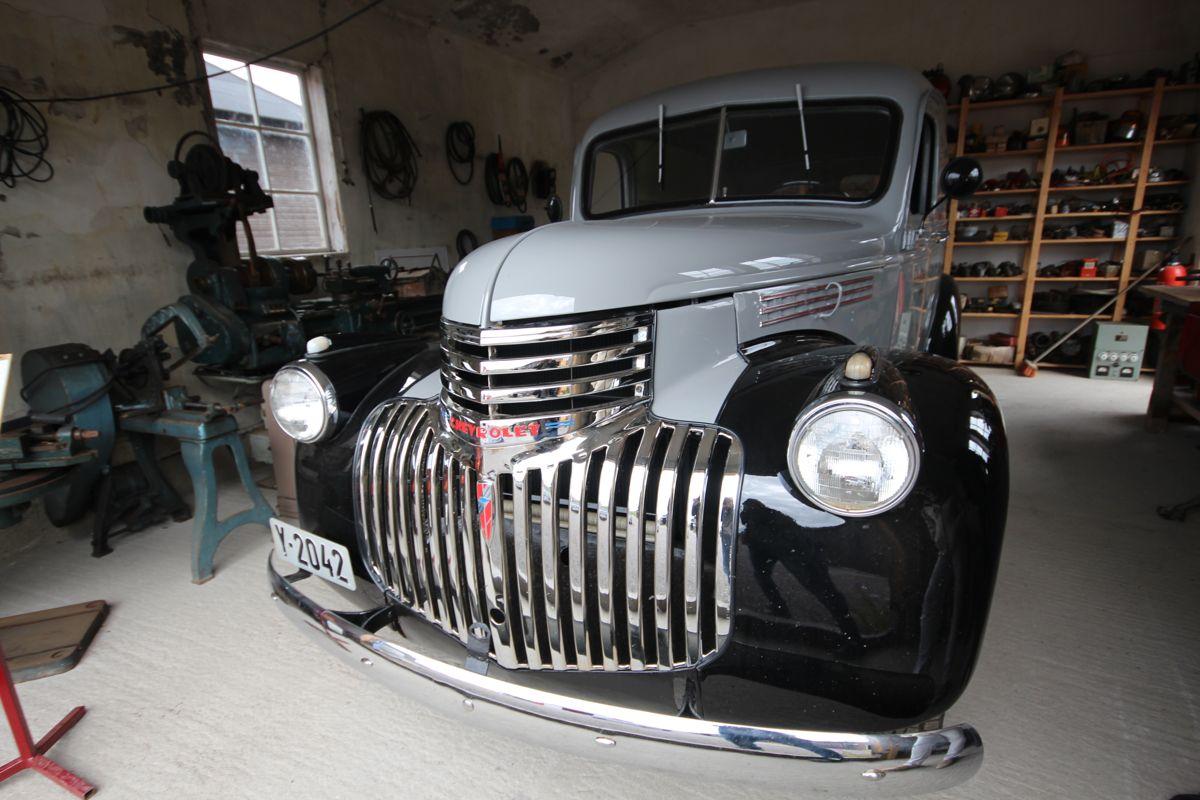Chevroleten fra 1947 var oppsynsmannsbil og ble brukt under åpningen av Tana bru i 1948.