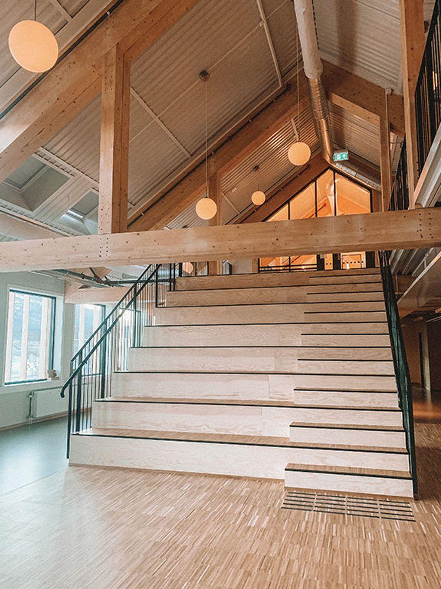 Åpne og lyse lokaler i første etasje. Foto: SIVA