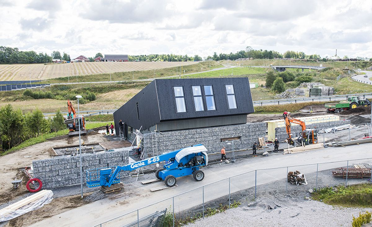Slik kan Multikomforthuset innpasses på en tomt hvor som helst i Norge. (Foto: Paal-André Scwital)