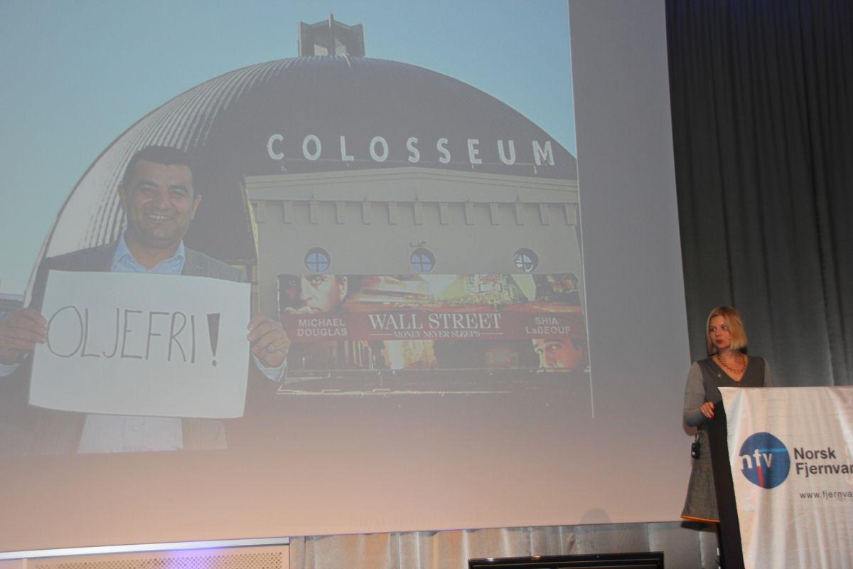Oslo kommune har en ambisjon om at fjernvarmen skal være fossilfri innen 2016, og kommunen har faset ut oljefyring i de fleste kommunale bygg, deriblant Colosseum kino (bildet), fortalte miljø- og samferdselsbyråd Guri Melby i sitt foredrag under Fjernvarmedagene. (Foto: Svanhild Blakstad)