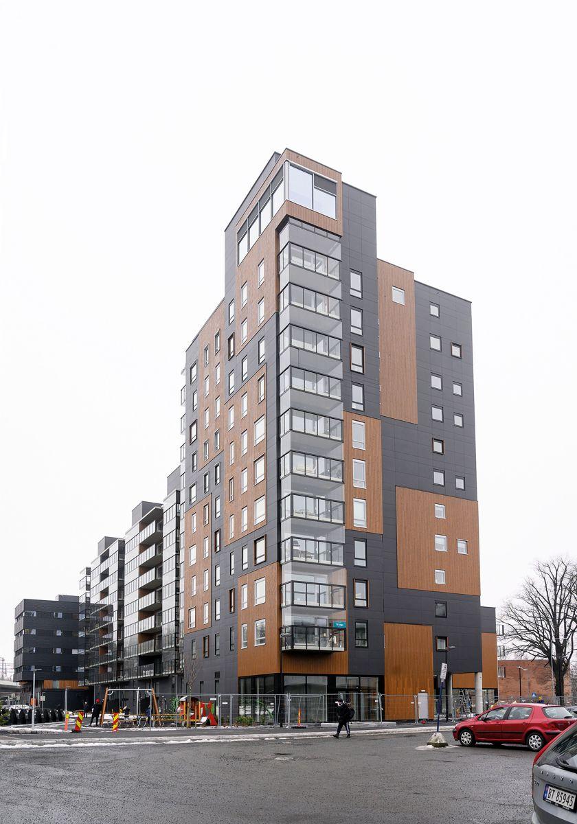 Elias Smiths Plass i Sandvika, 23.6.2021. Foto: Trond Joelson, Byggeindustrien