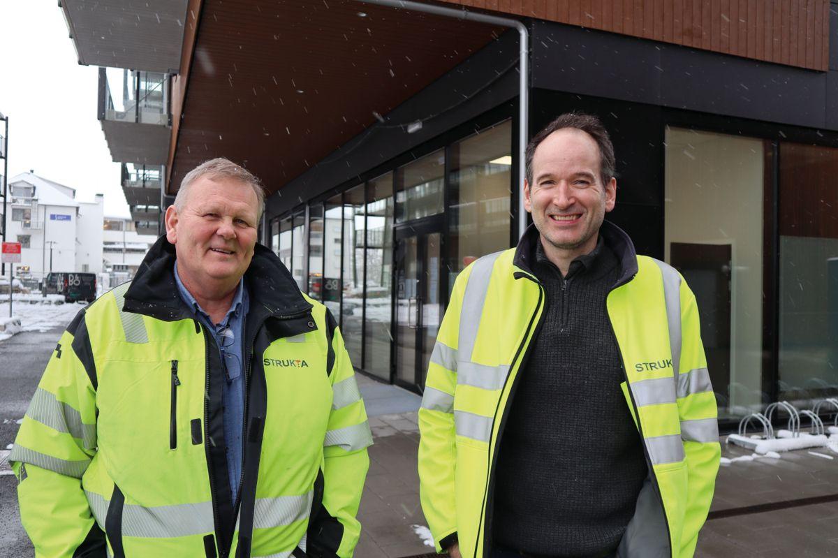 Anleggsleder Hans Jacob Spockeli og prosjektleder Finn Ove Hylen i Strukta. Foto: Svanhild Blakstad