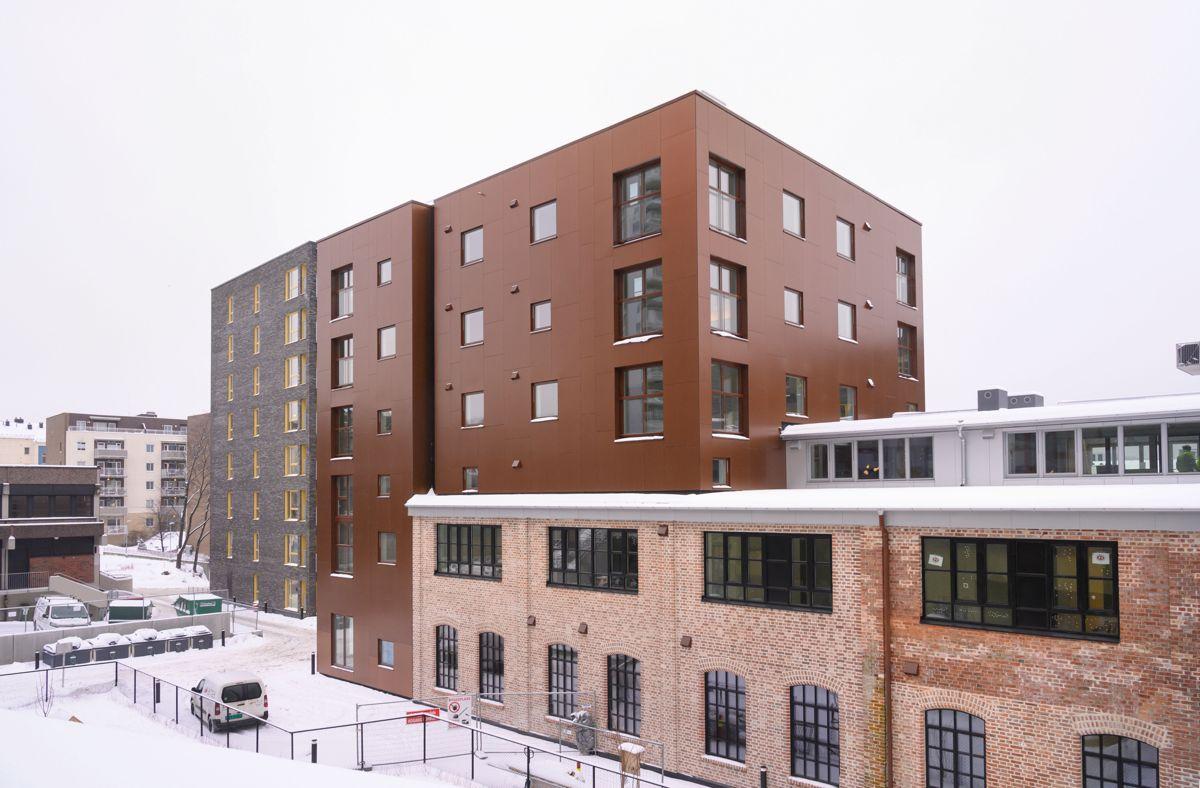 Ensjø Torg i Oslo, 24.2.2021. Foto: Trond Joelson, Byggeindustrien