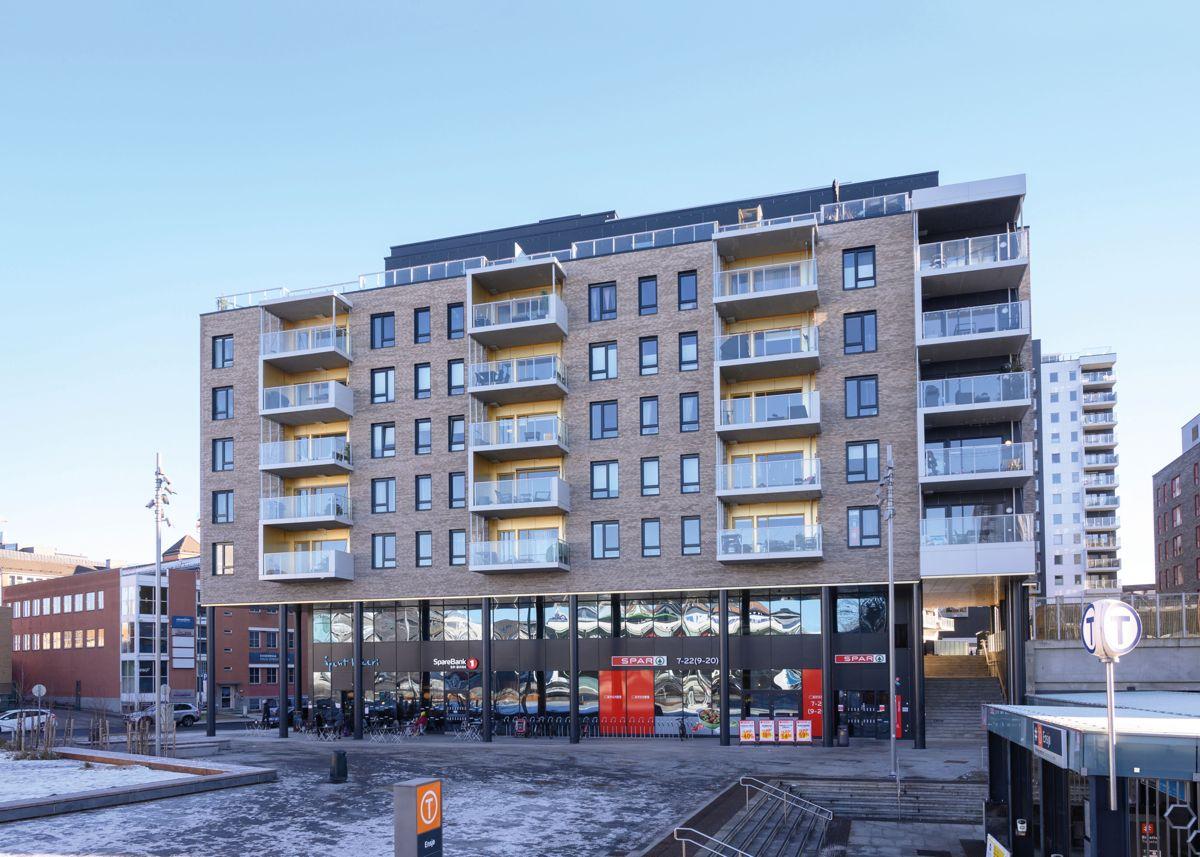 Ensjø Torg i Oslo, 13.2.2021. Foto: Trond Joelson, Byggeindustrien