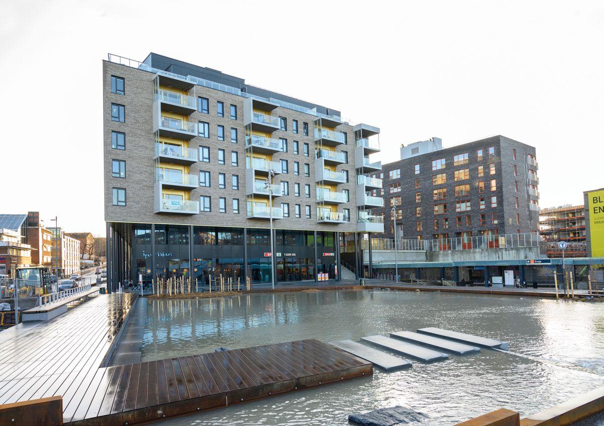 Ensjø Torg i Oslo, 15. januar 2020. Foto: Trond Joelson, Byggeindustrien