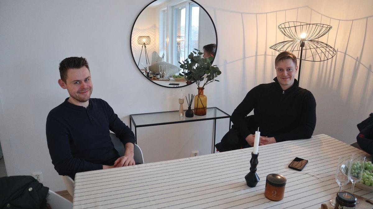 Glenn Jacobsen fra Skanska og Oddvar Reiten fra OBOS er fornøyd med både samarbeidet og resultatet.